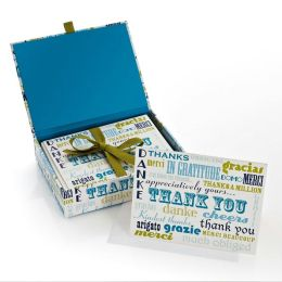 Jonathan Adler Words Blue/Green Thank You Note Cards Set of 20