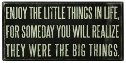 Enjoy The Little Things Box Sign 8 x 4