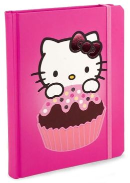 Hello Kitty Pink Cupcake Lined Journal 6 X 8
