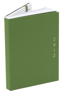 2012 Weekly Planner 4x6 Flexi Green Engagement Calendar