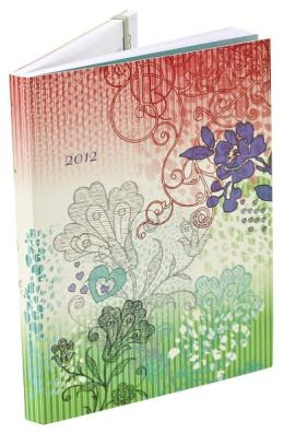2012 Weekly Planner 6x8 Indian Floral Flexi Engagement Calendar