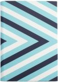 Product Image. Title: Jonathan Adler Chevron Cover in Blue