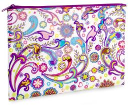 Boho Floral Accessory Pouch (7x10)
