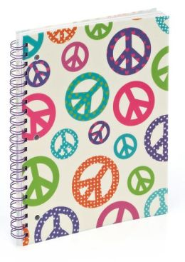 Peace Pearl 3-Subject Lined Notebook (8.5