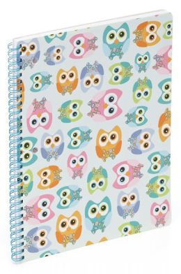 Owls Lined Theme Book (8