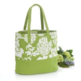 Green Begonia Spring Canvas Tote Bag (16x7x14)