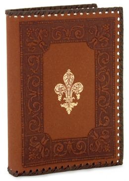 Giglio Brown Recycled Gold Stitched Italian Lined Leather Journal 7 x 10