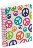 Product Image. Title: Peace Retro Pearl Lined Journal (6x8)