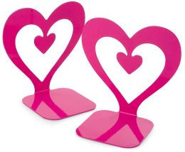 Jonathan Adler Pink Heart Metal Bookends - Set of 2