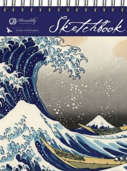 Hokusai Wave -Top Spiral sketchbook (Large)