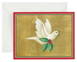 Dove With Holly Christmas Boxed Card