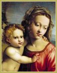 Product Image. Title: Madonna & Child Christmas Boxed Card