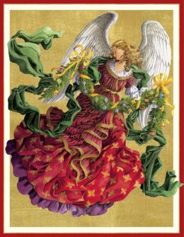 Victorian Angel Christmas Boxed Card
