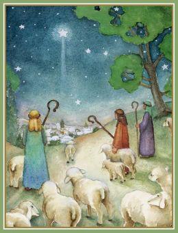 Shepherds by J Borrero Christmas Boxed Card
