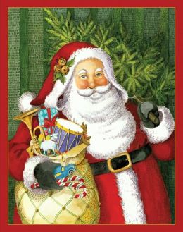 JINGLE BELL SANTA CHRISTMAS BOXED CARD