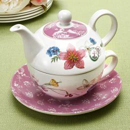 Hummingbird Tea for One Teapot in Round Gift Box