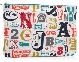 Jonathan Adler Multi Alphabet Accessory Pouch (9.75x7)
