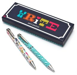 Jonathan Adler Multi Alphabet Pen & Pencil Set (6.5x2.5x1)