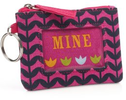 Jonathan Adler Multi Flowers Mini Keyring ID Case (4.5X3.25)