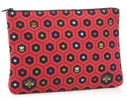 Jonathan Adler Multi Flowers Accessory Pouch (9.75x7)