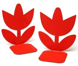 Jonathan Adler Multi Flowers Bookends (6.25x4.25)