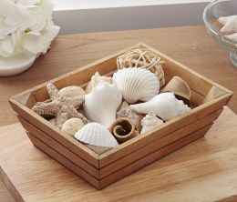 Shells Natural Ocean Scented Potpourri in Wood Crate 14 oz.