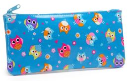 Hooty Owl Coated Cotton Pencil Pouch 4