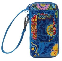 Lacey Medallion Nylon Take-Along Phone Wristlet 5.5