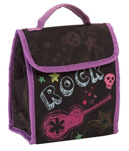 Neon Rock Fold Over Lunch Tote 9
