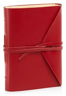 Bombay Red Leather Journal with Tie 4
