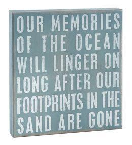 Memories of The Ocean Box Sign 10
