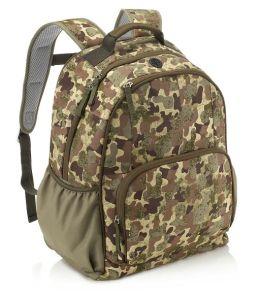 Camouflage Khaki Nylon Backpack (16 x 12 x 7)