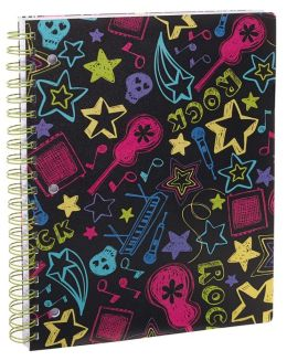 Neon Rock 1-Subject Lined Notebook 8.5