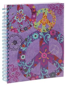 Boho Peace 3-Subject Lined Notebook 8.5