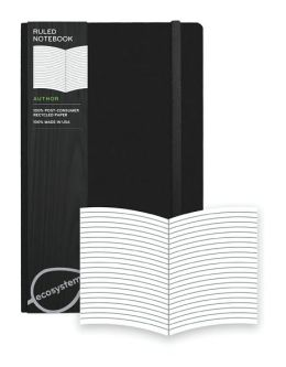Ecosystem 100% Recycled Hard Ruled Onyx Journal (5.25''x8.25'')