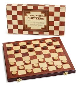 Classic Wooden Checkers Set