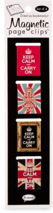 Keep Calm and Carry On Flag Page Clips Set of 4