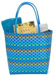 Product Image. Title: Blue Multicolor Woven Summer Tote 17'' x 7'' x 14''