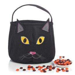 Black Cat Felt Halloween Treat Bag 8