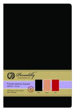 Pocket Memos -3 pack- Med- colors