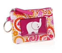 Jonathan Adler Pink Elephant Mini Keyring ID Case (4.5X3.25)