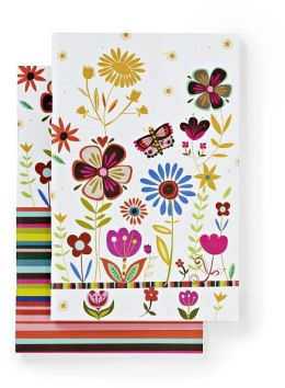 100% Recycled Butterfly Garden Lined Bound Journals 6x9 Set of 2