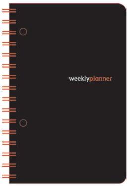 2014 18-Month 5x8 Black Basic Wiro Engagement Calendar