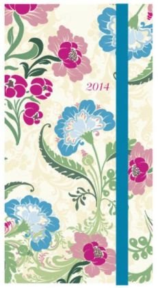 2014 Weekly Planner 3x6 Asian Vintage Flexi Engagement Calendar