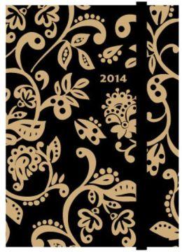 2014 Weekly Planner 4x6 Folkart Scroll Flexi Engagement Calendar