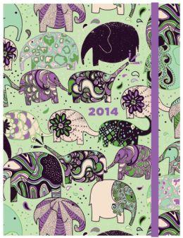 2014 Weekly Planner 6x8 Elephant Train Flexi Engagement Calendar