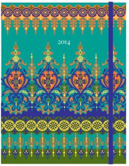 2014 Weekly Planner 7x9 Moroccan Borders Flexi Engagement Calendar