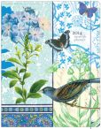 Book Cover Image. Title: 2014 Monthly Planner 7.5x9.75 Blue Butterfly and Bird Sewn Engagement Calendar, Author: Punctuate