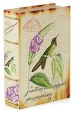 "Product Image. Title: Hummingbird Fabric Book Box 10.6"" x 7"" x 2.6"""