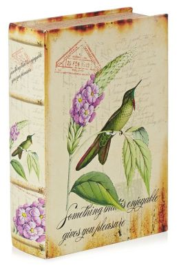 Hummingbird Fabric Book Box 10.6